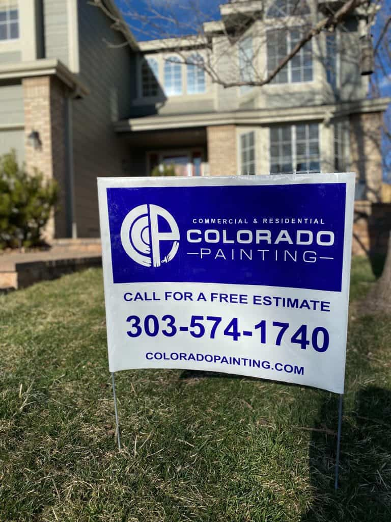 exterior house painter Denver, CO yard sign
