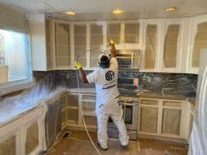 Interior cabinet painting