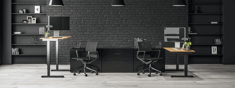 black paint commercial office