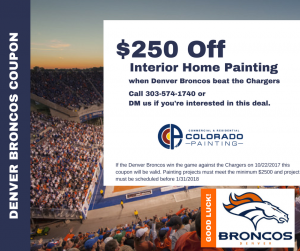 $250 coupon if the Broncos win!