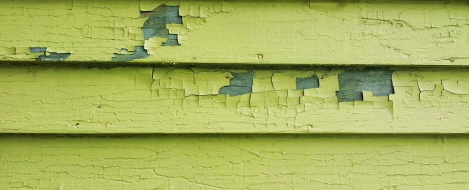 Green Peeling Paint